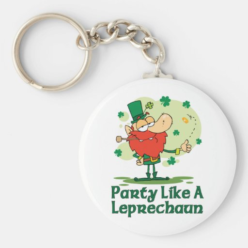 Party Like a Leprechaun Keychain