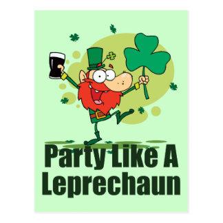 Party Like a Leprechaun Postcards