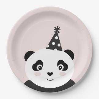 Party Like A Panda Plates 9 Inch Paper Plate