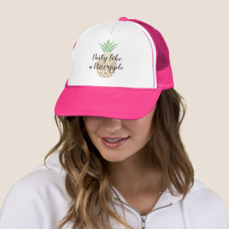 Party Like a Pineapple Birthday or Wedding Trucker Hat