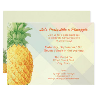Party Like a Pineapple | Invitation Card
