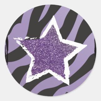 Party Like a Rockstar- Purple Glitter Star Sticker
