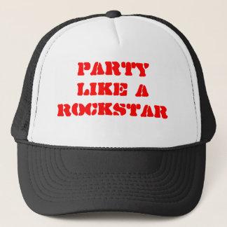 Party Like A Rockstar Trucker Hat