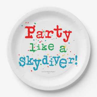 Party like a SKYDIVER! Paper Plate