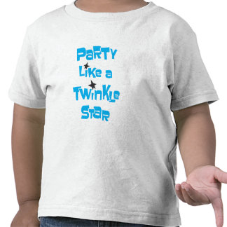 Party Like a Twinkle Star - Toddler White Tshirts