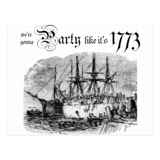 Party like It's 1773 Postcard