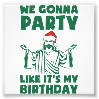 Party Like It's A Christmas Birthday Photograph