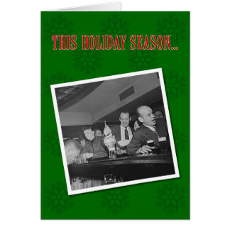 Party Like Mad Men Holiday Greeting Card