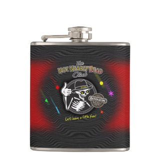 Party Line Red Hip Flask