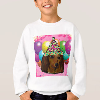 Party  Long Haired Red Doxie Sweatshirt