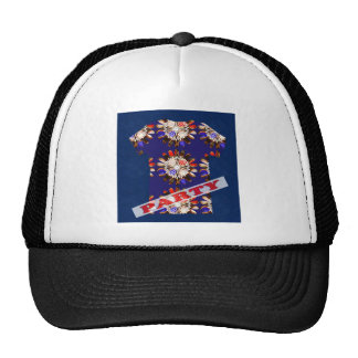 PARTY mightyshirt sparkle elegant casual graphic Cap