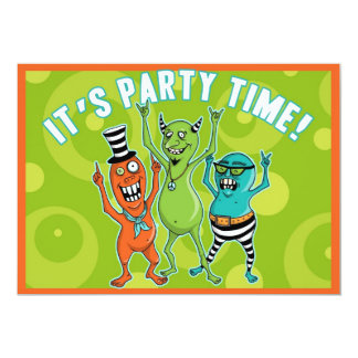 Party Monsters LOVE to Dance! Personalized Invitations