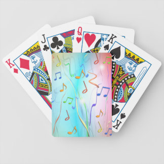 Party Music Notes and Streamers Deck Of Cards
