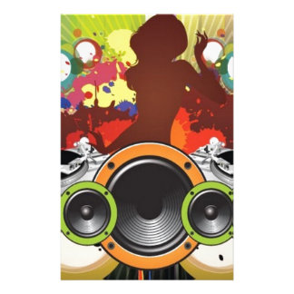 Party music vector design customized stationery
