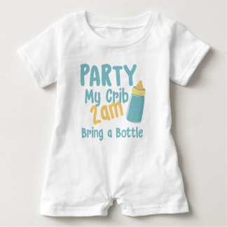 Party My Crib Baby Romper Baby Bodysuit
