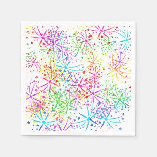 Party Napkin rainbow fireworks  Lighthouse Route Paper Napkin