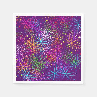 Party Napkin rainbow fireworks purple Disposable Napkin