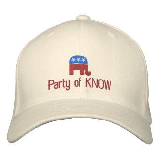 Party of Know Funny Political Embroidered Hats