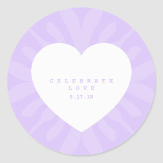 Party of love! classic round sticker