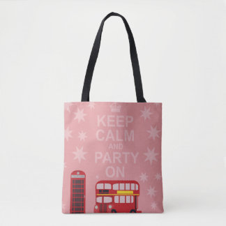 Party On English Style Tote Bag