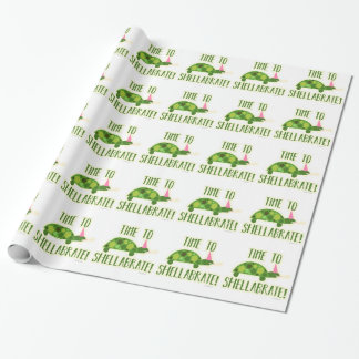 Party On Time to Shellabrate Wrapping Paper