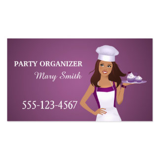 Party Organizer Event Organizer Business Card
