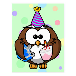 party owl postcard