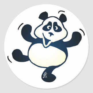 Party Panda Classic Round Sticker