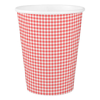 Party Paper Cup Red Gingham Picnic Teddy bear