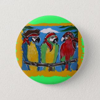 Party Parrots 6 Cm Round Badge