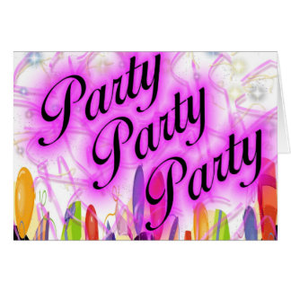 Party Party Party Greeting Card