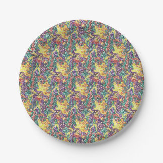 Party Pattern Time Paper Plate