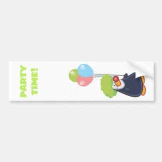 Party Penguin Bumper Sticker
