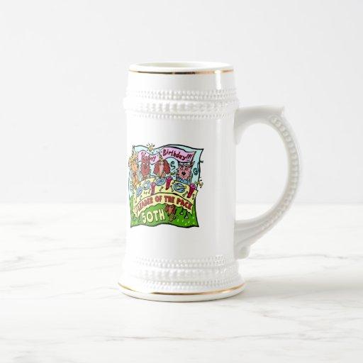 Party Pets 50th Birthday Gifts Coffee Mug