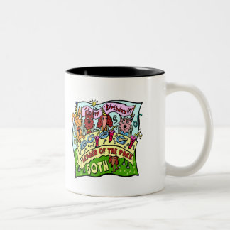Party Pets 50th Birthday Gifts Two-Tone Mug