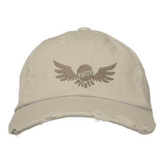 Party Pilot Distressed Hat Embroidered Hat