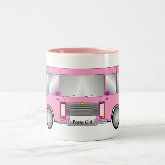 Party Pink Limo Two-Tone Coffee Mug