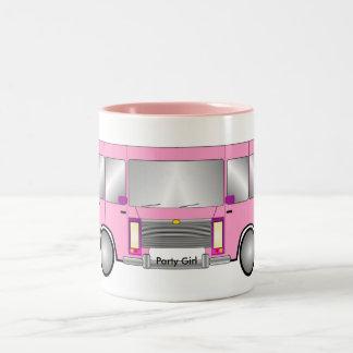 Party Pink Limo Two-Tone Coffee Mug