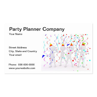 Party Planner Company Business Card