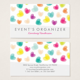 PARTY PLANNER PROFESSIONAL | COLOURFUL CONFETTI BUSINESS CARD