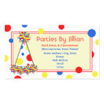 Party Planner Red Yellow Blue Polka Dot Party Hat