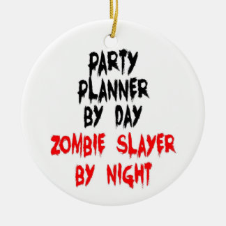 Party Planner Zombie Slayer Christmas Tree Ornaments