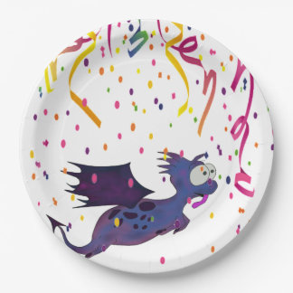 PARTY PLATE WITH DINO FOR ANY CELEBRATION 9 INCH PAPER PLATE