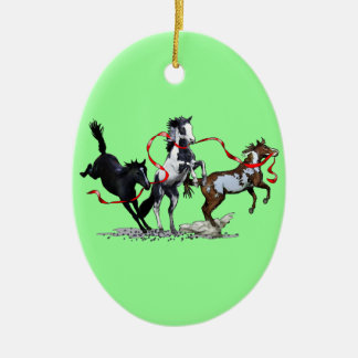Party Ponies Ceramic Oval Decoration