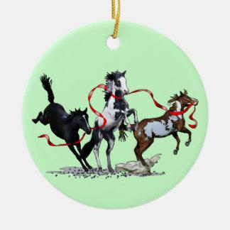 Party Ponies Round Ceramic Decoration