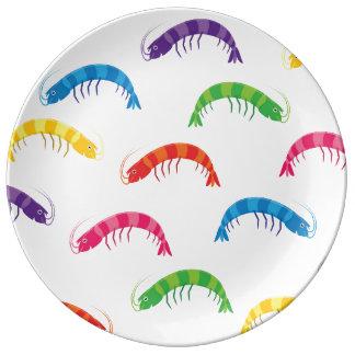 Party Prawns Porcelain Plates