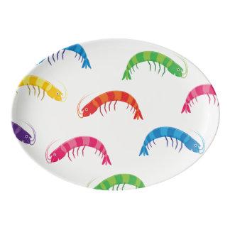 Party Prawns Porcelain Serving Platter