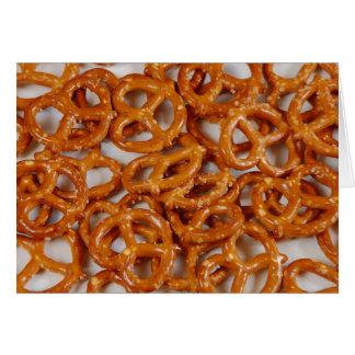 Party pretzels print greeting card