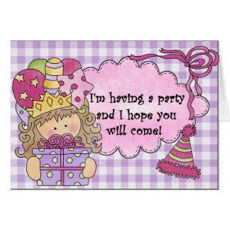 Party Princess Birthday Invitations Greeting Card