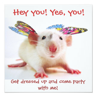 Party Rat Invitations